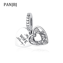 2ee898699 New 100% 925 Sterling Silver Beads Charm My Wife Always Heart Pendant  Charms Fit Pandora