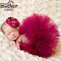 2 pcs Meninas Recém-nascidas Faldas Saia Tutu + Headbands Flor Adereços Para A Fotografia Do Bebê Conjunto Tutu Menina Saias Tutu Recém-nascidos Minie
