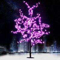 Новый праздник света Новогоднее украшение огни Роскошные ручной работы искусственные светодиодные cherry blossom дерево Light 150 см свет