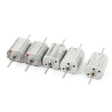 UXCELL Hot Sale 5pcs 12V 13500RPM Motors Speed 1.5mm Shaft Doublel Axle Cylinder Magnetic Mini Electric DC Motor for DIY Toy
