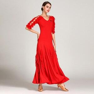 Image 4 - 女性社交ドレスワルツダンスドレスフォックストロットダンスドレススペインフラメンコドレスダンスブラックダンスの服標準ドレス
