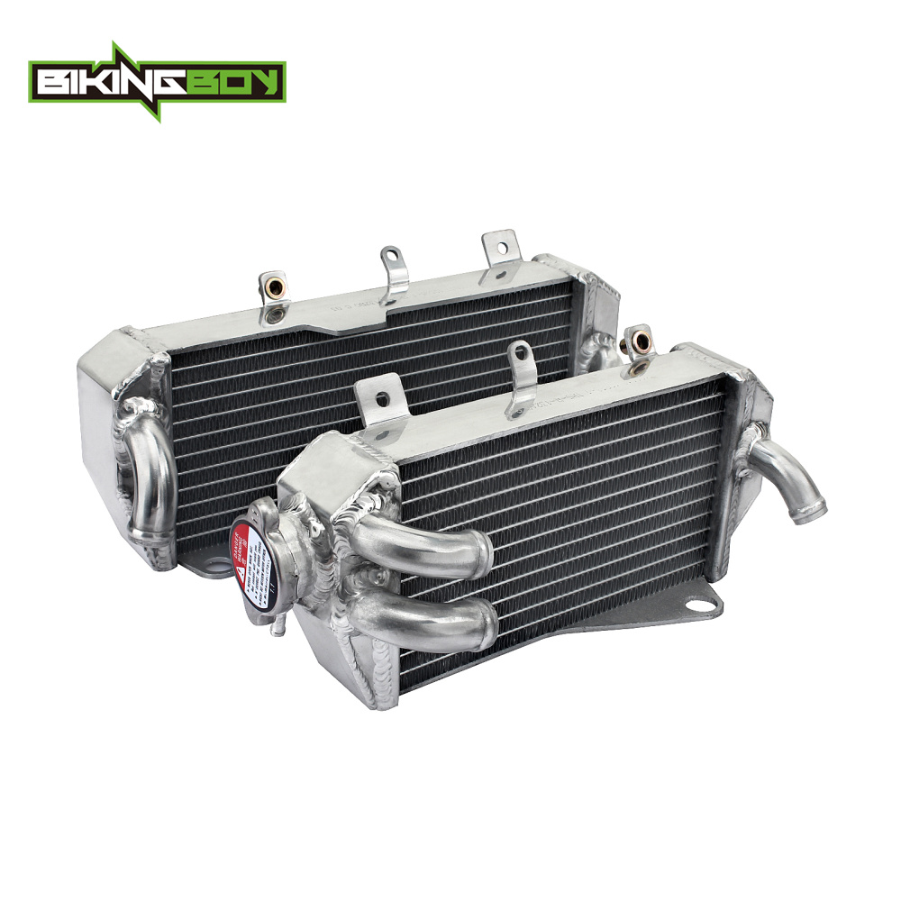 BIKINGBOY MX Offroad Full Set Aluminum Alloy Engine Water Cooling Radiators For HONDA CRF 450 R