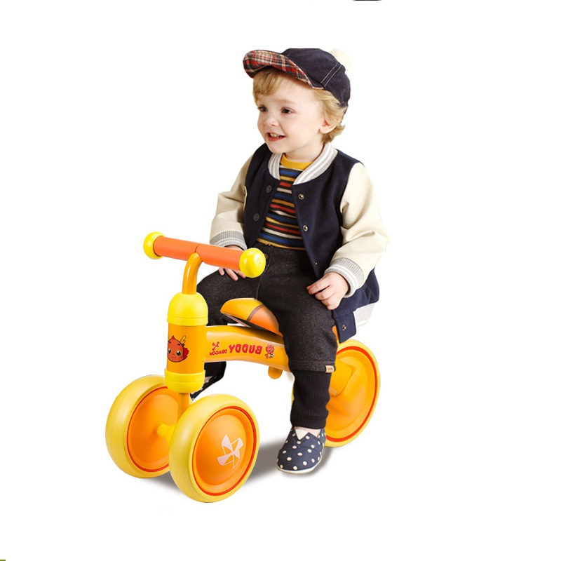 цена на Ride on Toy Cartoon Toddle Gift Children Balance Bikes Scooter Baby Walker Infant 1-3years Scooter No Foot Pedal Driving Bike