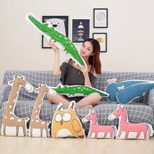 1pc Cute Simulation Animals Plush Pillow Stuffed Horse/ Giraffe/Owl/Whale Cartoon Toys Kids Love Doll Home Decoration Gift