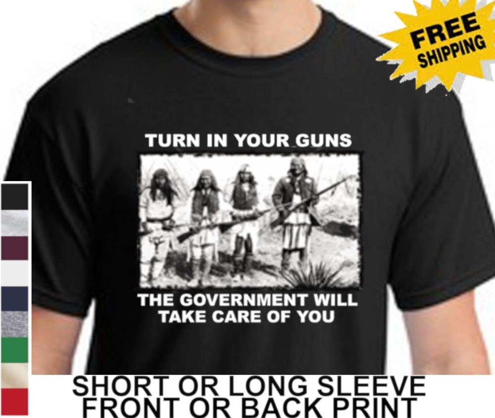 2Nd Amendment Turn In Your Guns Mens   T     Shirt   summer 2019 Cotton Print Mens O-Neck Casual   T     Shirts