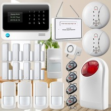 Contact App WIFI GSM Alarm System Safety Residence GSM Alarm Burglar Safety smoke detector sensible socket +anti pet detector alarm