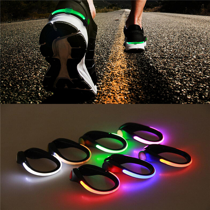 LED Luminous Shoe Clip Light Outdoor Running Cycling Bicycle RGB Novelty Lighting Safety Night Warn Lamp Glowing Zapato Ciclismo