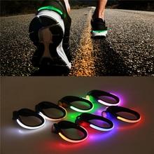 Подсветка для обуви Светодиодный светящийся зажимы для обуви для бега и езды на велосипеде велосипед RGB Новинка освещение безопасность Ночная предупреждающая лампочка светящаяся zapato ciclismo