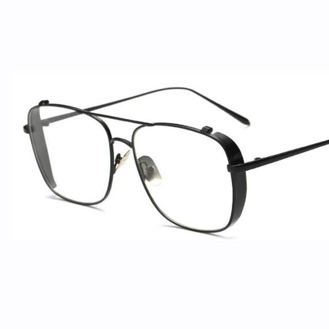 02c2d346ec5 Online Shop gold glasses frames for men brand optical glasses women frames  clear transparent eye glasses metal frame square eyeglasses women
