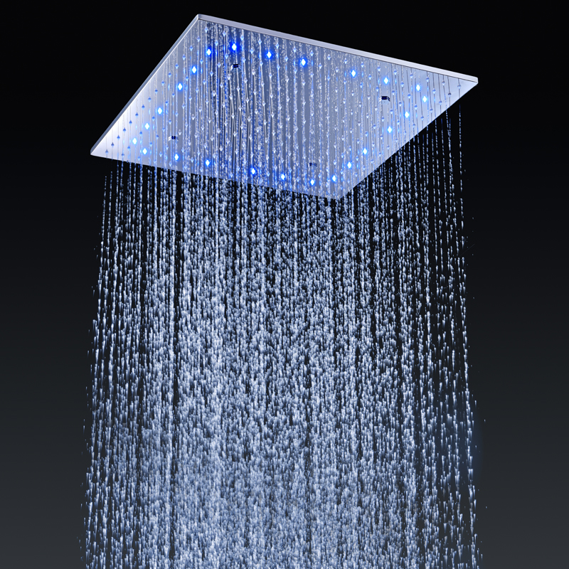 In Wall Mounted Rain Shower Sets Modern LED Shower Kits Ceiling Spa ...