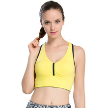 Women's Sports Bras With Padded High Quality Health Breathable Fabric Elasitc Under Band Non-Slip Cross Strap Fitness Top