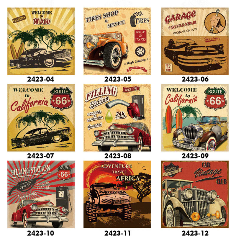 Image 2 - Filling Station Garage Repair Service Car Vintage Club Metal Tin Sign Retro Home Wall Art Decor Iron Poster for Bar PubTire Shop-in Plaques & Signs from Home & Garden