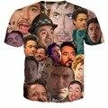 Women/Men Robert Downey Jr. Paparazzi funny face Collage T-Shirt RDJ Bob Bobby rubber ducky Ron LOL HAHA t shirt tees