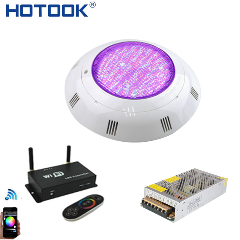 HOTOOK Underwater Light Wifi LED Swimming Pool Light IP68 35W RGB by Mobile Control with Transformer Kit For Pool PartyFountain