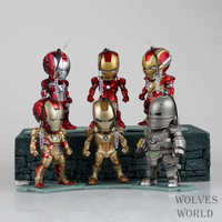 Movie Figure 6PCS SET Iron Man 3 Light And Figures Iron Man MK1 5 7 17
