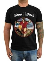 Replica ANGEL WITCH Band Heybourne NWOBHM Metal Cover T Shirt (Black) S 5XL 100% cotton tee shirt,tops wholesale tee