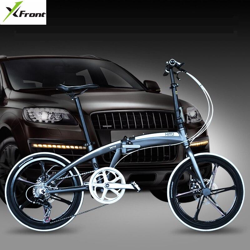 Nova marca de 20/22 polegada de alumínio frame da liga de 7 velocidade freio a disco bicicleta dobrável ao ar livre bicicletas do BMX crianças bicicleta da senhora