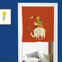 Cartoon Door Cotton Curtain Fashion Cute Animal Pattern Children Christmas Love Curtain For Kitchen Cabinet Door