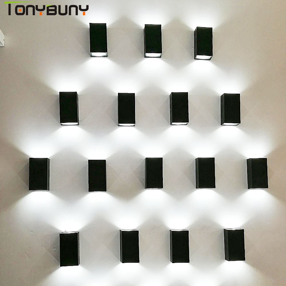 UP Down Outdoor wall lamps Wall Mounted AC 85-265V LED COB Wall Light Modern Waterproof Lighting for Garden Home Hallway ac 85 265v 8w cloud led wall lamp acrylic sconce mounted light for home interior lighting