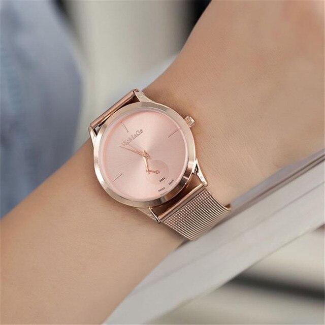 Cinto de Ligas moda Malha Assista Unisex relógios das mulheres Estilo Minimalista Relógio de Quartzo relogio saat Relógios para as mulheres