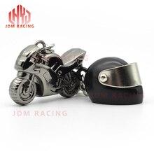Горячая Мода Мужчины крутой мотоцикл кулон сплав брелок автомобильный брелок подарок мини мотоцикл и шлем брелок