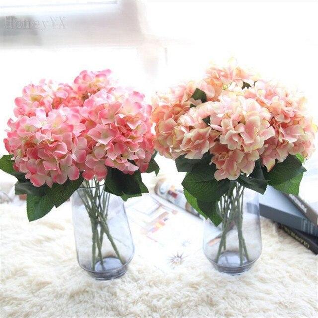 Extrem 5 Branches Artificielle Hortensia Rose Artificielle Fleurs De  XE19