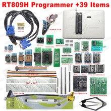Frete grátis Original RT809H EMMC Nand FLASH Extremamente rápido Programador Universal + 39 Itens + Cabo + Sucção Edid caneta EMMC Nand