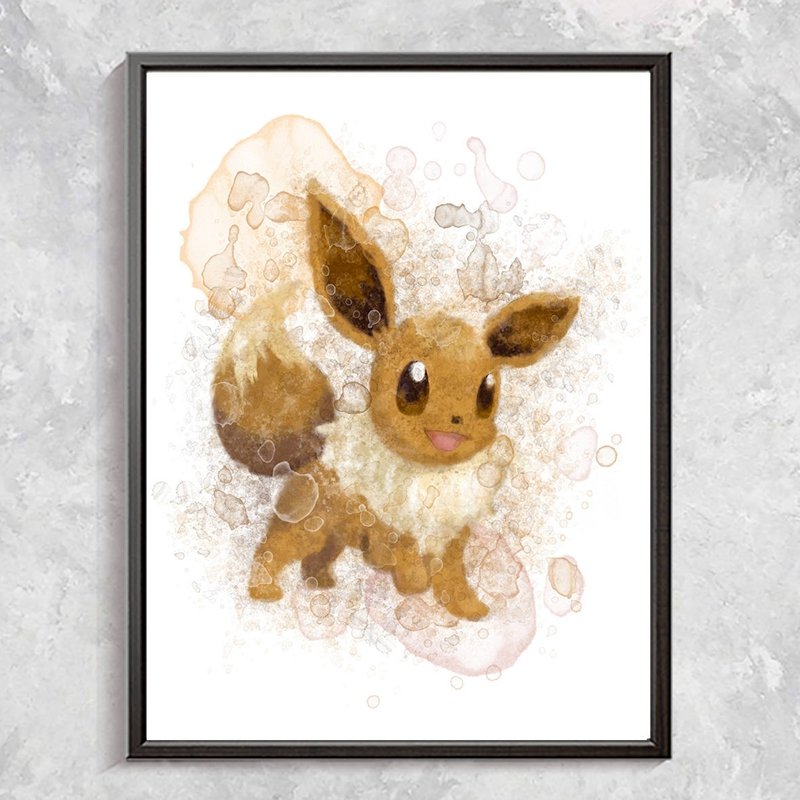 Pokemon Posters Canvas Art Painting Home kids room Decor