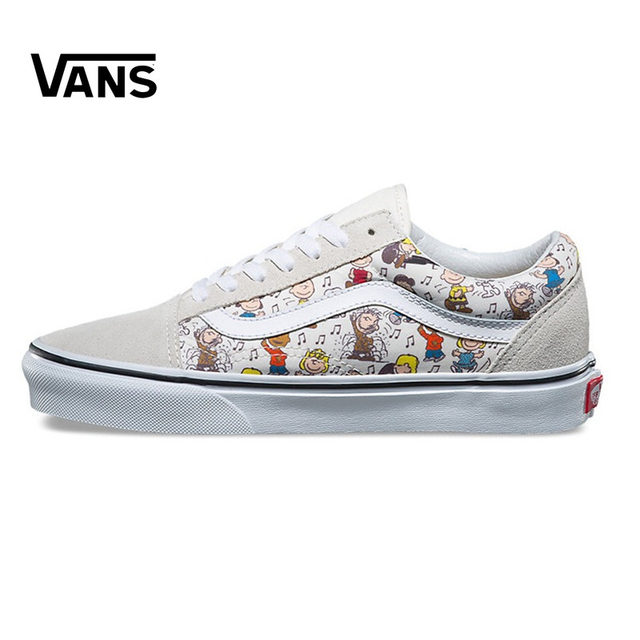 VANS Old Skool Series Unisex Skateboard Shoes Men's Breathable Leisure  Canvas Sneakers Women's Cartoon Graffiti Fencing