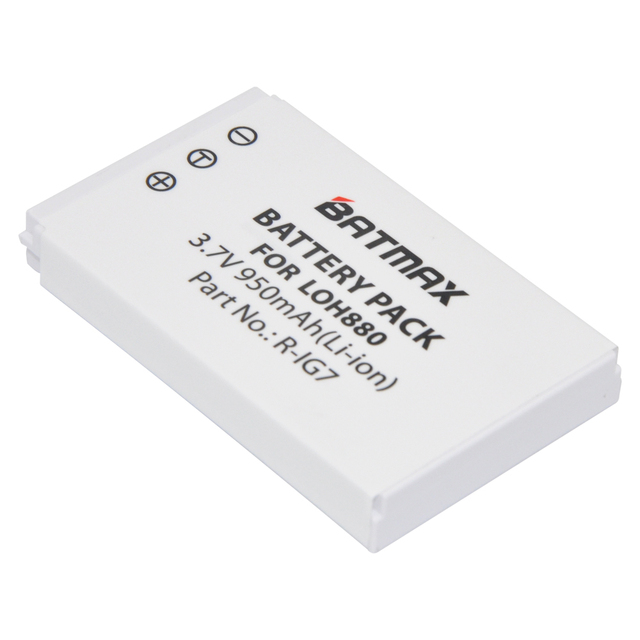 R-IG7 Battery  Batmax 1Pc 3.7V Rechargeable Lithium ion Bateria for LOH880 Logitech Harmony One 900 720 850 880 885 890 Pro H880