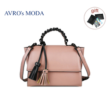 AVRO's MODA Brand PU leather shoulder bags for women 2019 luxury handbags women crossbody retro bags with tassel messenger tote chispaulo women genuine leather handbags cowhide women messenger bags luxury brand woman crossbody bags for women tassel t551