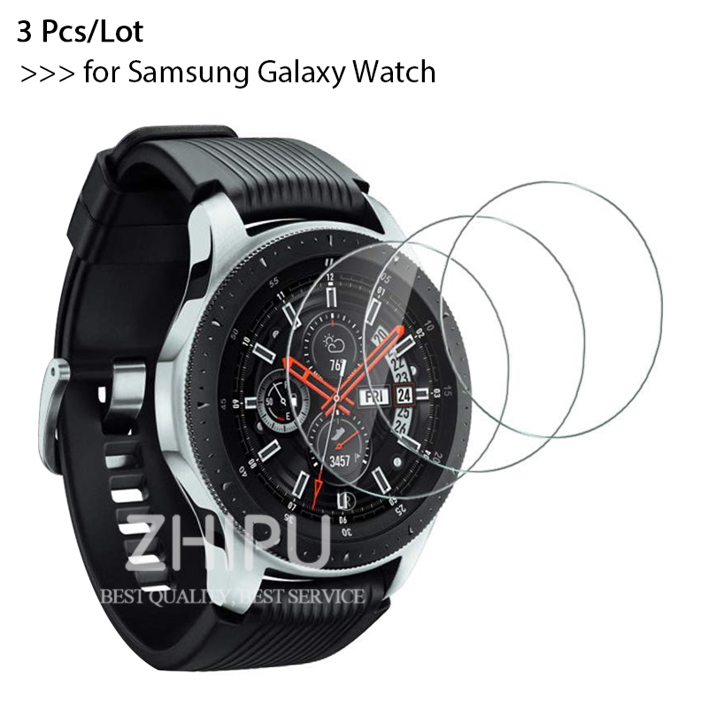 3Pcs/Lot 9H Premium Explosion-Proof Tempered Glass For Samsung Galaxy Watch 46mm & 42 Mm 2018 Version Screen Protector Film