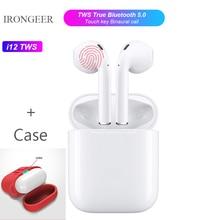 Оригинальный i12 TWS 1:1 Air pods Беспроводная Bluetooth 5,0 3D супер стерео бас Музыка Беспроводная гарнитура с гарнитурой коробка Розничная коробка