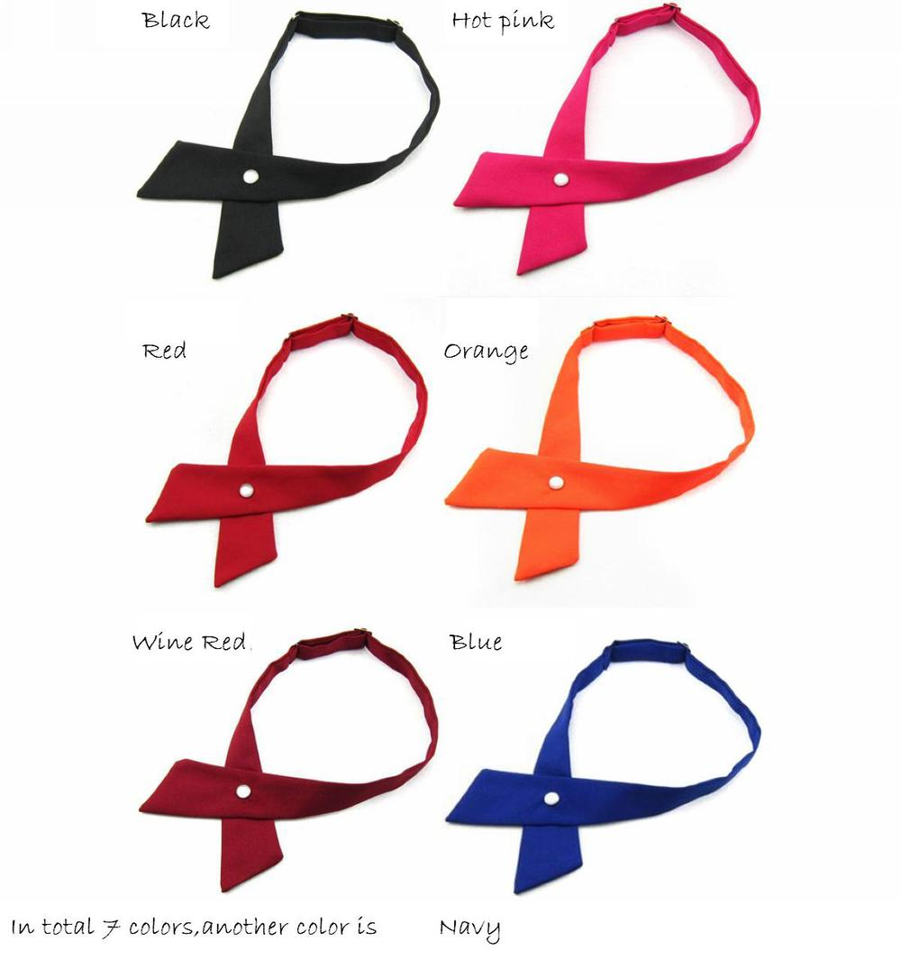 crossover solid butterflies butterfly bowknot bow tie knot bowtie mens necktie womens neck ties polyester ascot cravat 7colors