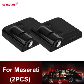 ROVFNG Led auto Door Lights for car 3D Laser Projector For Maserati Logo Ghibli Quattroporte /Levante /GranTurismo / GranCabrio image