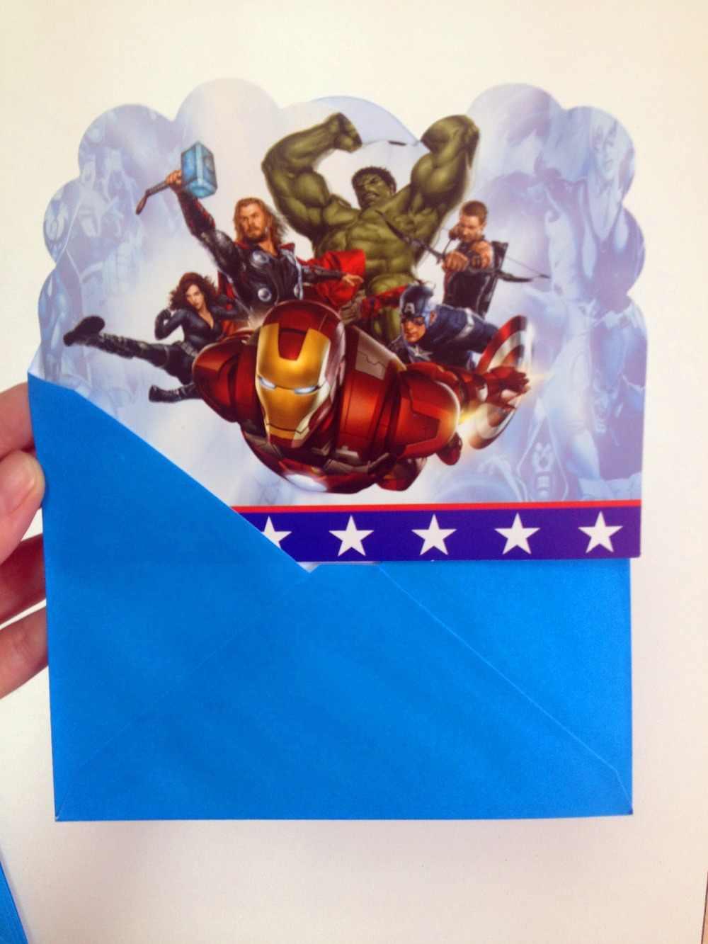 12 Pzas Lote Avengers Superhéroe Superman Tarjeta De