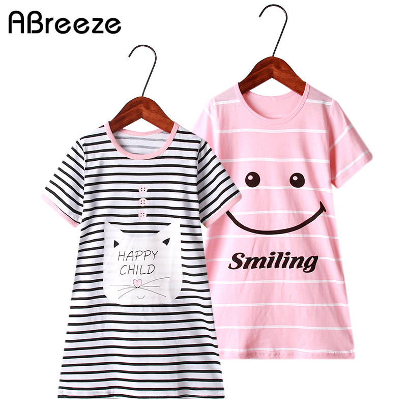 New Summer Girls Clothing Dresses 2-10Y Cotton Child Dresses For Girls Color Red Blue Striped Dresses Girls
