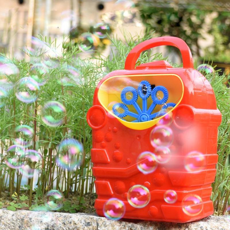 Electric Bubble Machine Toy Automatic Bubble Blower Outdoor Toys For Girl Boy Bubble Maker Cartoon Bubble Machine Children's Toy