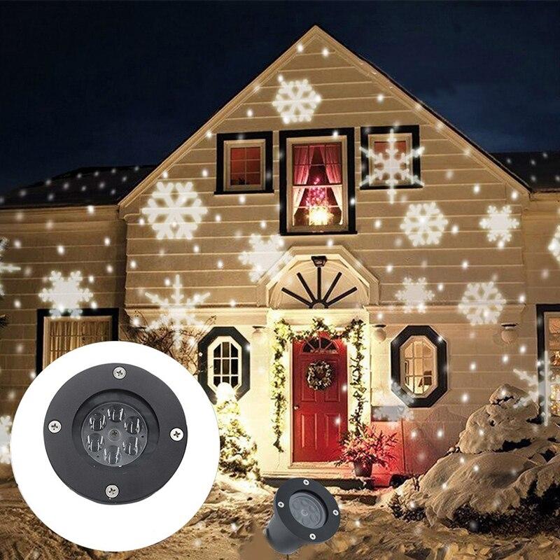 Litwod Z27 屋外スノーフレーク Led ステージスノーマシンライト防水ライトクリスマスホリデーホワイト & Rgb 色照明パーティー 220V 110Vsnow lightholiday lightssnowflake led -