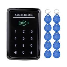 RFID Access Controller card reader with digital Keypad 125KHz/13.56MHz Smart Keyless EM Lock For Door Access Control System
