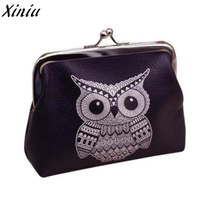 Leather Coin Purse Womens Owl Printing Mini Wallet Clutch Bag Children Coin Pouch monedero de mujer #8828