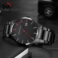 Relógios masculinos relógio de quartzo 2018 top marca de luxo relogio msculino casual aço à prova dwaterproof água masculino relógios xfcs saati
