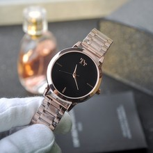 Luxurious Delicate Easy Woman Gown Enterprise Quartz Watch Rose Gold Stainless Metal Band Womens Wristwatch relogio feminino OP001