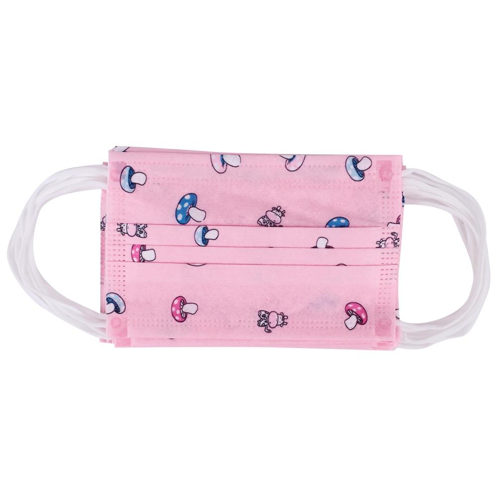 Одноразовая маска 10 шт. прочная Пылезащитная маска Outsports детская маска для лица универсальная Велоспорт - Цвет: pink mushroom
