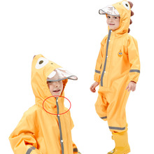 90-135CM 3D Cartoon waterproof raincoat for children kids baby rain coat poncho boys girls students Siamese suit