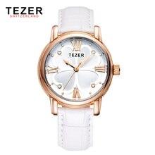 TEZER ladies watch fashion watch waterproof fashion quartz women watch Relogio Feminino T2013
