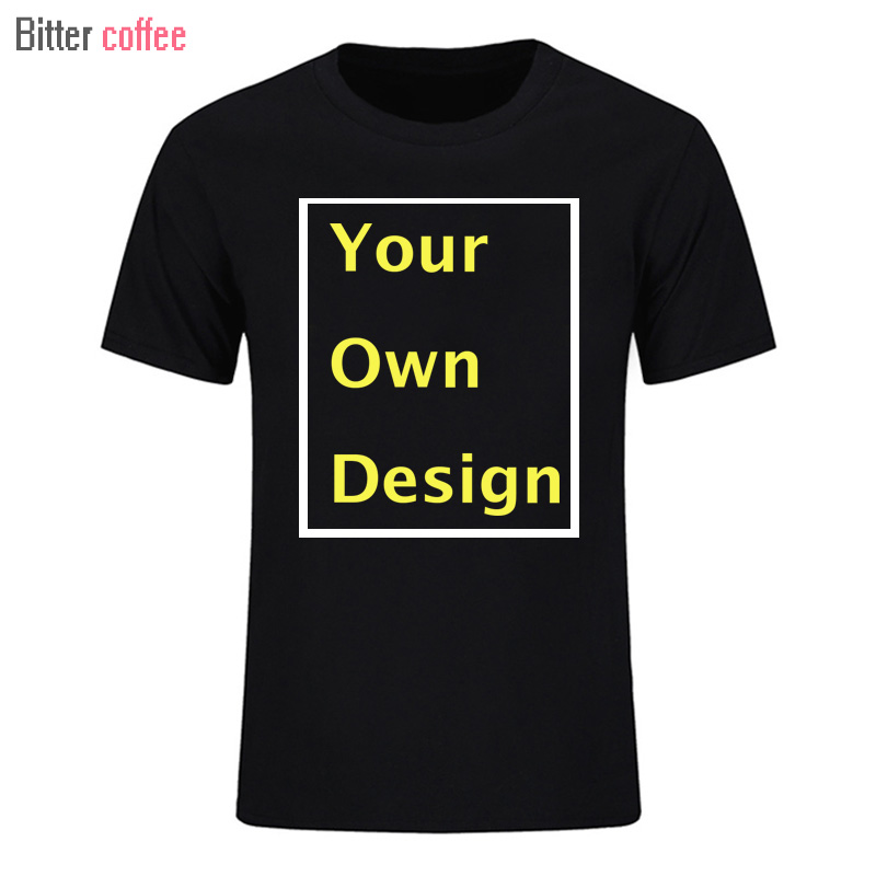 BITTER COFFEE 도매 Customized Men T shirt 남성용 디자인 남성 캐주얼 셔츠 티셔츠