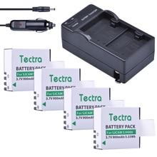 Tectra 4 шт. Батарея + двойной Зарядное устройство США/ЕС для SJCAM SJ4000 SJ5000 SJ6000 SJ7000 SJ8000 SJ9000 SJM10 спортивные действие Камера