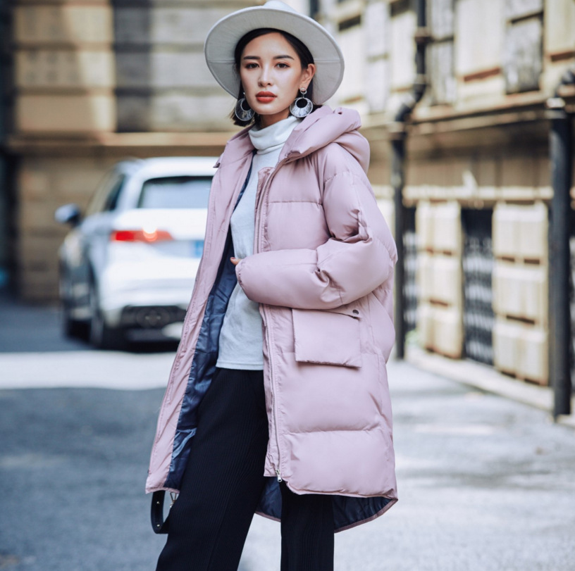 In the winter of 2017 new women's Korean version of the long bread are loose cotton coat thick warm down yagenz 2017 new soft sister winter coat korean version of the long paragraph down jacket cotton winter thick loose cotton
