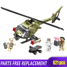XINGBAO 06013 Genuine 621Pcs Military Series The Fighting Helicopter Set Building Blocks Bricks Funny Christmas Toys As Gift